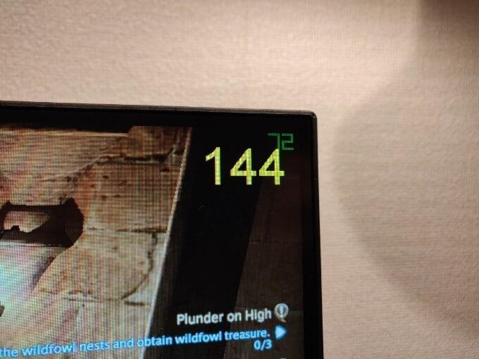 KG251QH ゲームモードのFPSカウンターは飾り