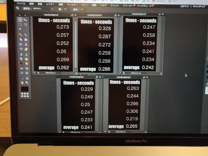 反射神経テスト MacBook Pro