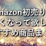 2019年Amazon初売りで安くなって欲しい商品まとめ