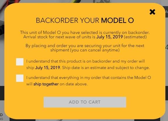 Glorious Model O 注文
