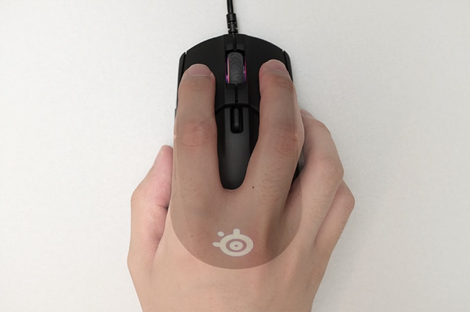 Steelseries Sensei310 つまみ持ち