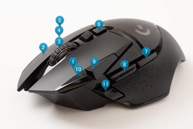 ロジクール G502WL ボタン数