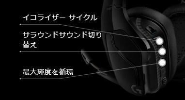 G933s サラウンドモード