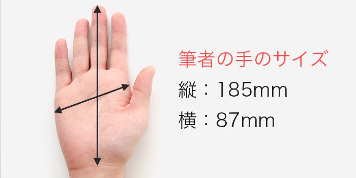 kessy 手のサイズ