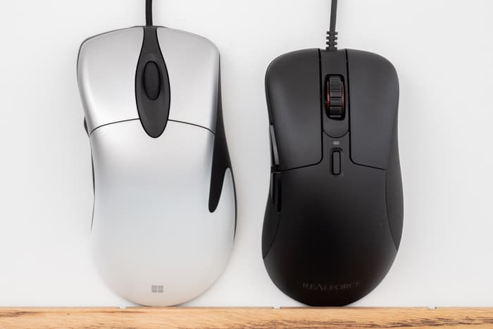REALFORCE MOUSE Pro IntelliMouse 比較