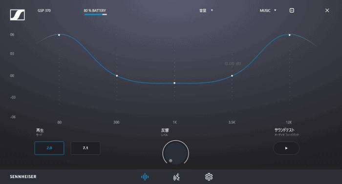GSP370 イコライザー MUSICモード