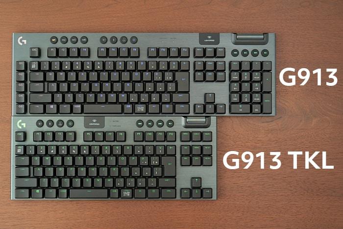 G913 TKLとG913の比較