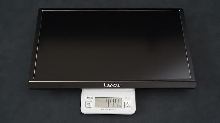 lepow z1 モニター本体の重さ