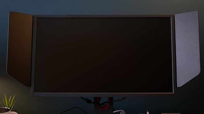 xl2546K モニター正面にはなんのスイッチもランプもない