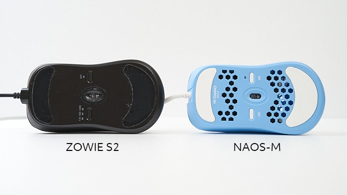 hk gaming naos m zowie s2との比較