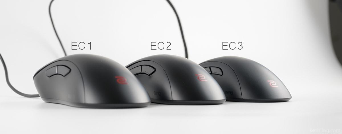 EC1 EC2 EC3 大きさ比較